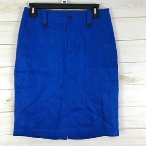 J. Crew Linen Cargo Pencil Skirt 2 Pockets Lined
